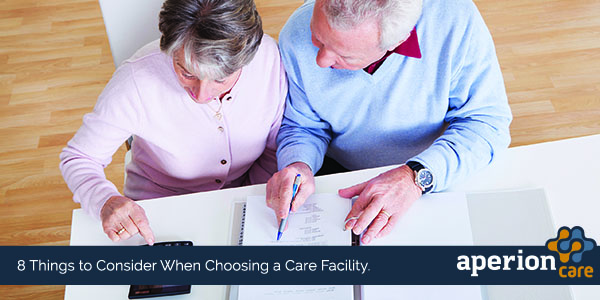 Elderly Couple Weighing Care Options